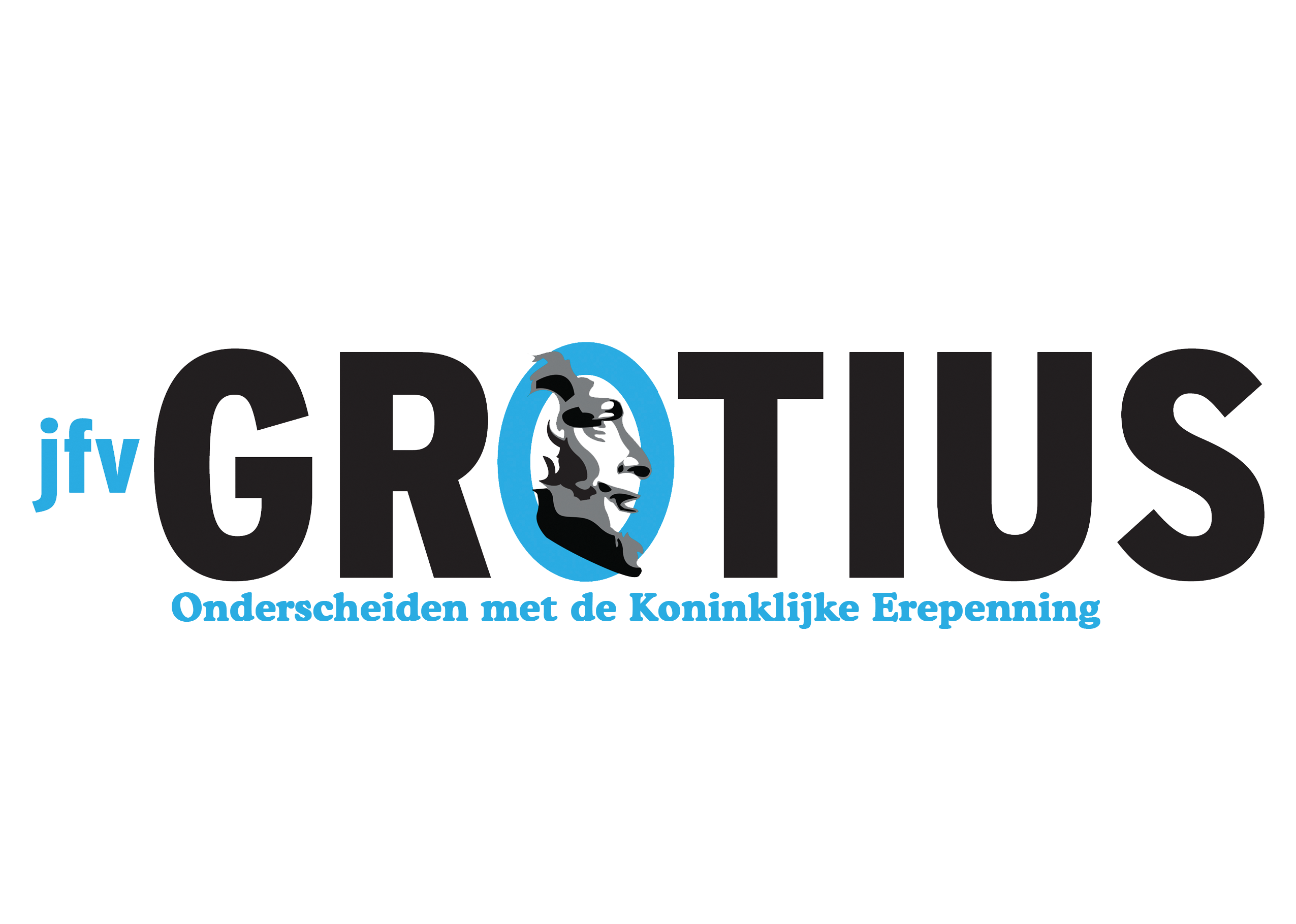 Logo Grotius wit hoofd
